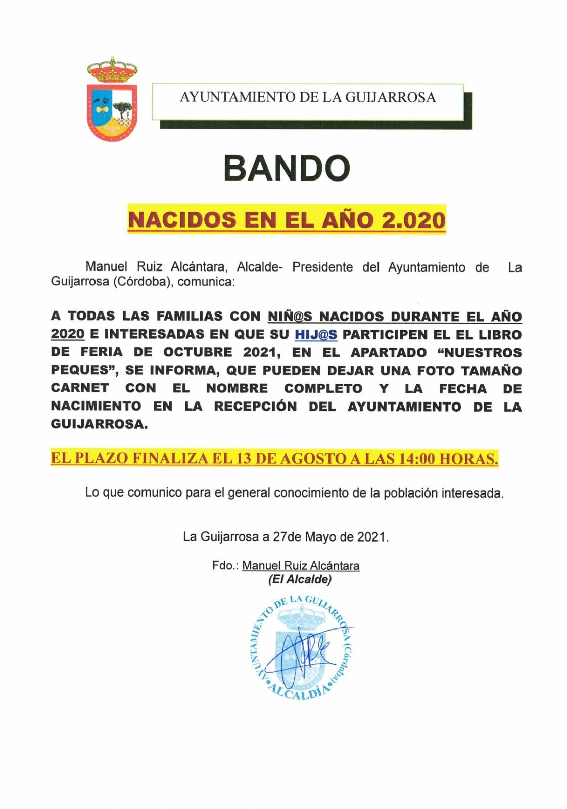 NACIDOS 2020