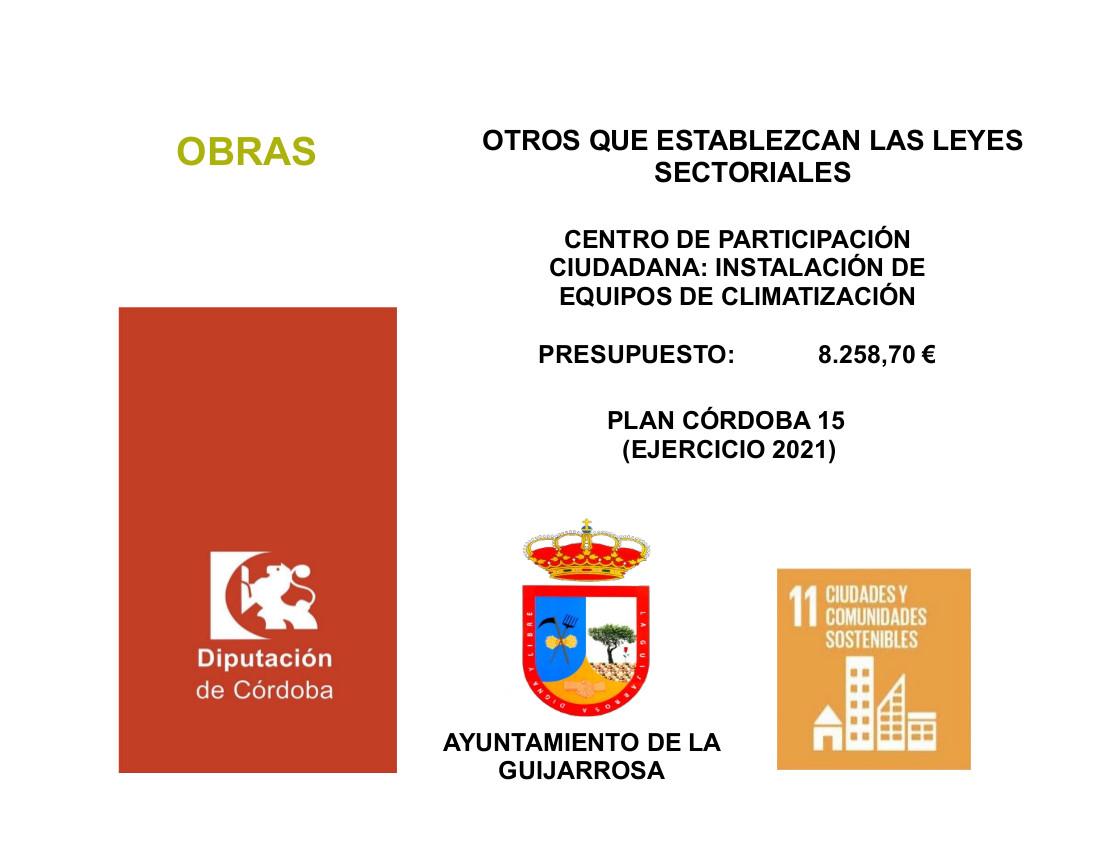 CARTEL PLAN CORDOBA 15-2021 PARTICIPACION CIUDADANA. CLIMATIZACIÓN